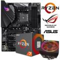 ASUS ROG STRIX B450-F Motherboard + AMD Ryzen 7 2700X CPU with Wraith Prism Cooler Bundle