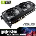 ASUS NVIDIA GeForce RTX 2070 DUAL OC 8GB Graphics Card + RTX Bundle - Wolfenstein: Young Blood Game