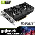 PALIT NVIDIA GeForce RTX 2070 Dual R2 8GB Graphics Card + RTX Bundle - Wolfenstein: Young Blood Game