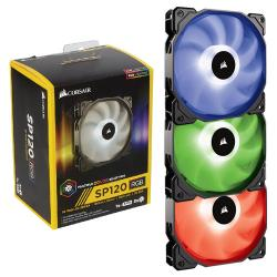 Corsair,SP120,RGB,120mm,LED,3-pack,Fan,Kit,with,Lighting,Controller,