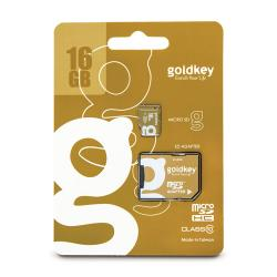 GOLDKEY,16GB,MICRO,SDHC,CARD,W/ADAPTER,CLASS,10