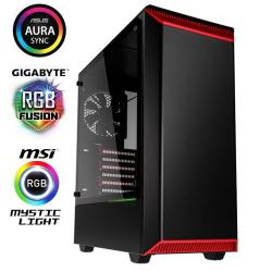 PHANTEKS,Eclipse,P300,Tempered,Glass,Gaming,Case,-,Black/Red,