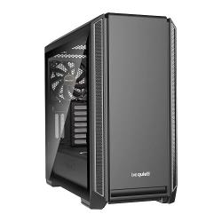 be,quiet!,SILENT,BASE,601,Silver,Tempered,Glass,Midi,PC,Case,