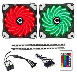 Game,Max,RGB,Kit,(2x,Fans,2x,LED,Strips,+,Remote,Control),