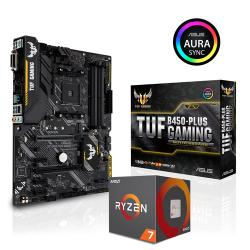 ASUS,TUF,B450-PLUS,Motherboard,+,AMD,Ryzen,7,1700,CPU,with,Wraith,Spire,Cooler,Bundle,