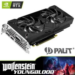 PALIT,NVIDIA®,GeForce,RTX™,2060,-,GAMING,PRO,OC,6GB,Graphics,Card,+,RTX,Bundle,-,Wolfenstein:,Young,Blood,Game,