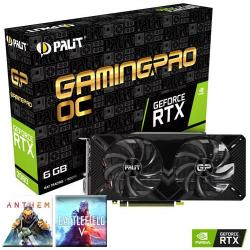 PALIT,NVIDIA®,GeForce,RTX™,2060,-,GAMING,PRO,OC,Turing,6GB,Graphics,Card,+,FREE,Battlefield,V,or,ANTHEM,