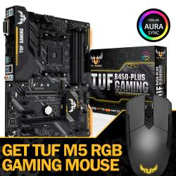 ASUS,TUF,B450-PLUS,GAMING,-,AMD,RYZEN,MOTHERBOARD,+,TUF,M5,RGB,GAMING,MOUSE,WORTH,£34.99!,