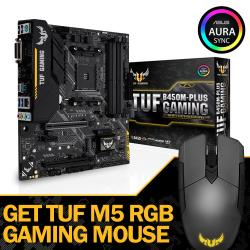 ASUS,TUF,B450M-PLUS,GAMING,-,AMD,RYZEN,MATX,MOTHERBOARD,+,TUF,M5,RGB,GAMING,MOUSE,WORTH,£34.99!,