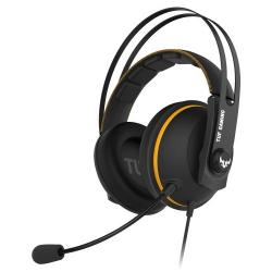 Asus,TUF,Gaming,H7,7.1,Gaming,Headset,53mm,Driver,3.5mm,Jack,(USB,Adapter),Boom,Mic,Virtual,Surround,Stainless-Steel,Headband,Yellow
