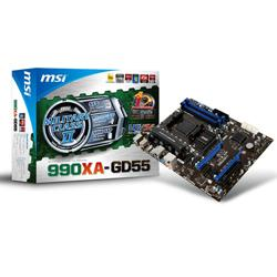 MSI,990XA-GD55,AMD,990X,(Socket,AM3+),DDR3,PCI-Express,ATX,Motherboard,