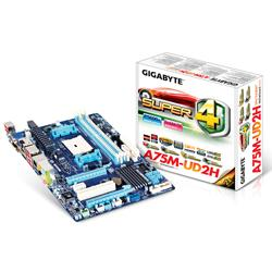 Gigabyte,A75M-UD2H,AMD,Hudson,D3,(Socket,FM1),DDR3,PCI-Express,Micro-ATX,Motherboard,