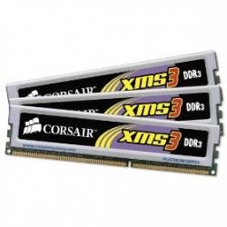 Corsair,XMS3,6GB,(3x2GB),DDR3,PC3-12800C9,1600MHz,Triple,Channel,Kit,