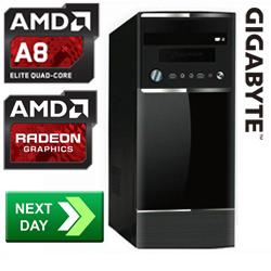 Gladiator Amd A8 6600k 3 90 Ghz Richland Quad Core Next Day Desktop Pc Clearance Aria Pc