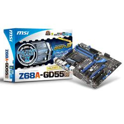 MSI,Z68A-GD55-G3,Intel,Z68,(REV,B3),Socket,1155,DDR3,PCI-Express,Motherboard,