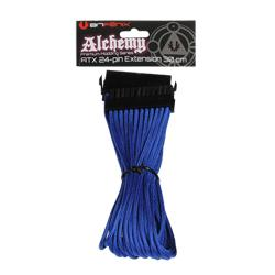 BitFenix,Alchemy,24-Pin,ATX,Sleeved,Braided,Cable,30cm,-,Blue,