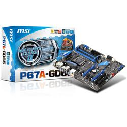 MSI,P67A-GD65,Intel,P67,(Socket,1155),DDR3,PCI-Express,Motherboard,