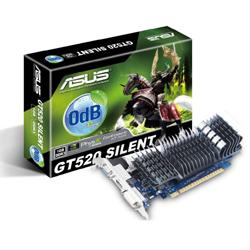 ASUS,GeForce,GT,520,Low,Profile,1024MB,GDDR3,PCI-Express,Passive,Graphics,Card,