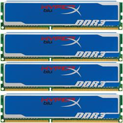 16GB,Kingston,HyperX,blu,(4x4GB),DDR3,1600MHz,9-9-9-27,Quad,Channel,kit,(2x,8GB,kits),