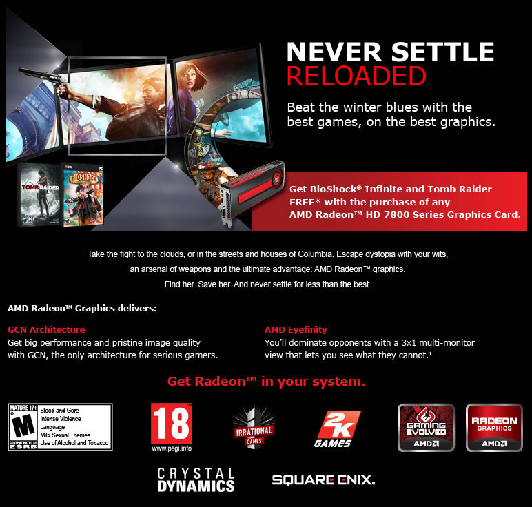 AMD 7800 Series Never Settle Reloaded!