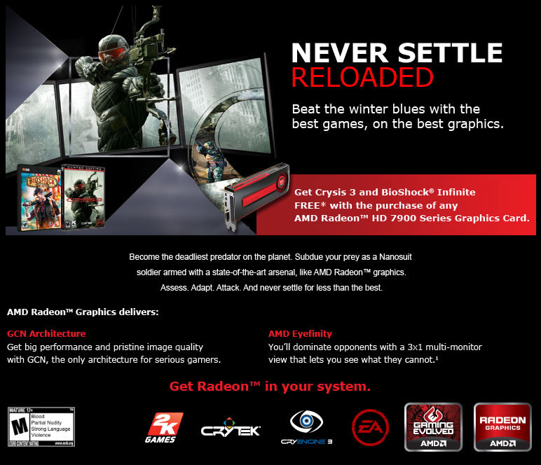 AMD 7900 Series Never Settle Reloaded!