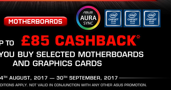 Cash Back with selected motherboards and graphics cards