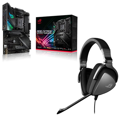 Asus Amd Ryzen Rog Strix X570 F Am4 Pcie 4 0 Atx Gaming Motherboard Free Asus Rog Delta Core Wired Pc Console Gaming Headset Aria Pc