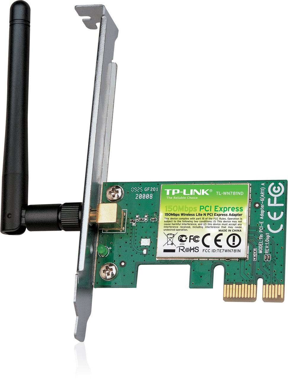 TP-Link TL-WN781ND 150Mbps Wireless PCI Express Adapter +