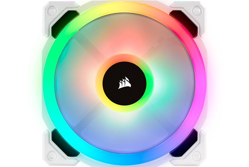 White RGB ML120 fan