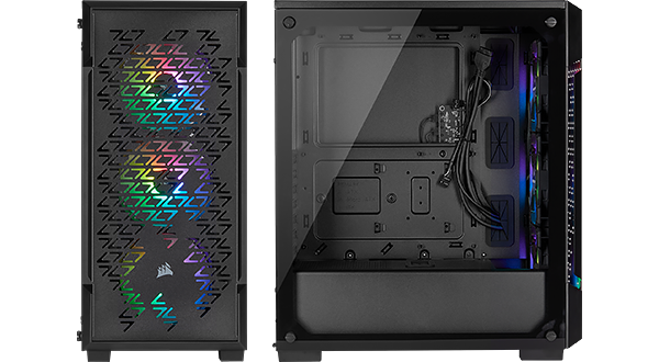 corsair 220t rgb airflow case black