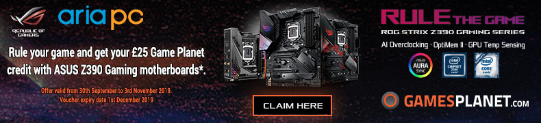 Buy ASUS Z390 Gaming, Get £25 Game Voucher